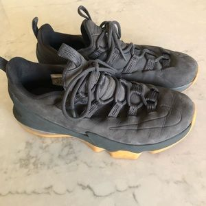 Nike Lebron XIII 13 PRM Anthracite Grey Suede 8